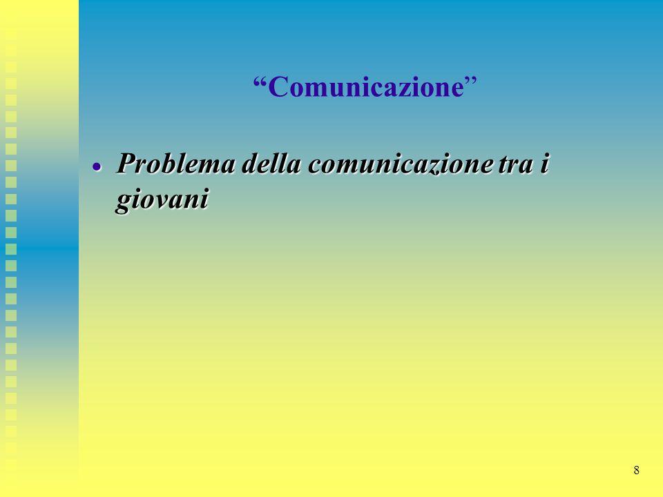 Comunicazione Problema della comunicazione tra i giovani