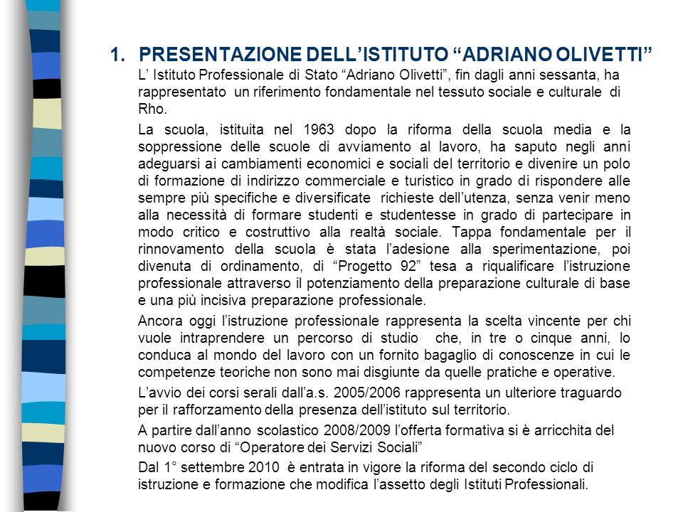 PRESENTAZIONE DELL'ISTITUTO ADRIANO OLIVETTI