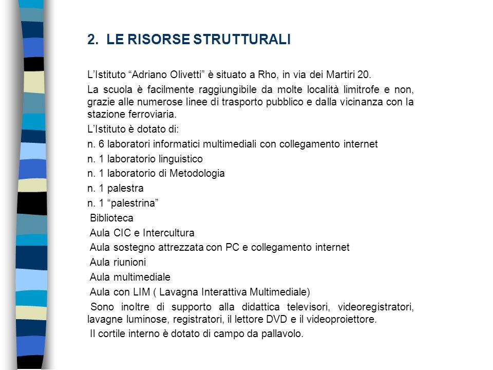 2. LE RISORSE STRUTTURALI