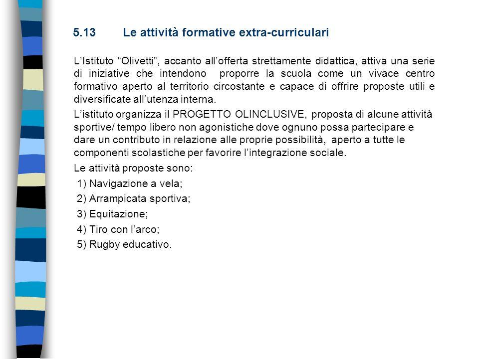 5.13 Le attività formative extra-curriculari