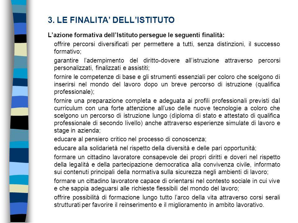 3. LE FINALITA' DELL'ISTITUTO