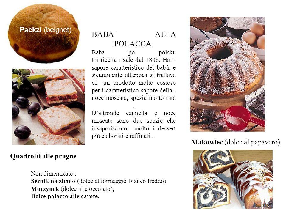 BABA' ALLA POLACCA Baba po polsku La ricetta risale dal 1808