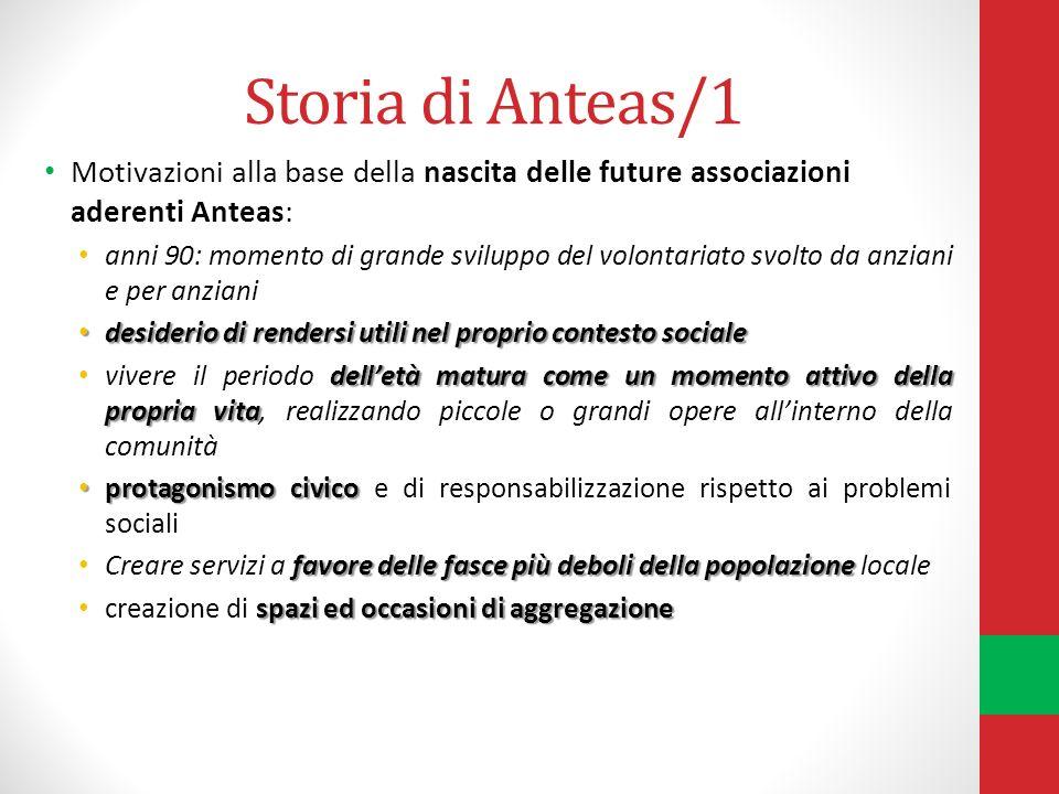 Storia di Anteas/1 Motivazioni alla base della nascita delle future associazioni aderenti Anteas: