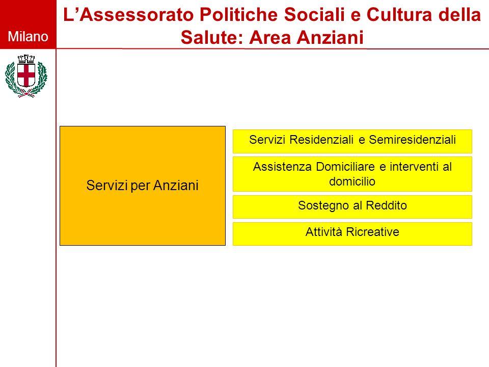 L'Assessorato Politiche Sociali e Cultura della Salute: Area Anziani