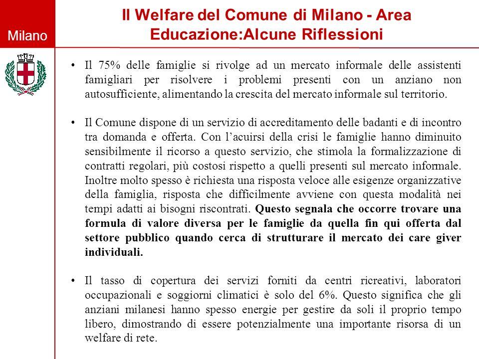 Il Welfare del Comune di Milano - Area Educazione:Alcune Riflessioni