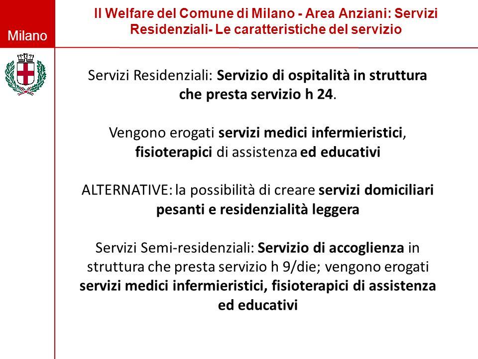 Il Welfare del Comune di Milano - Area Anziani: Servizi Residenziali- Le caratteristiche del servizio