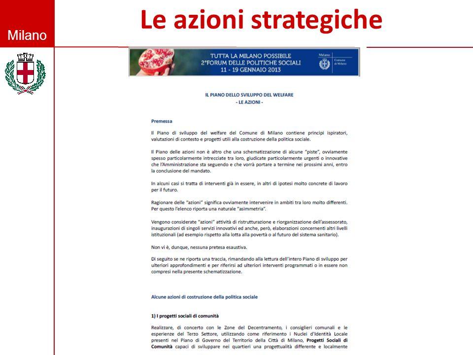 Le azioni strategiche