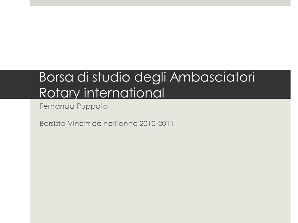 Borsa di studio degli Ambasciatori Rotary international