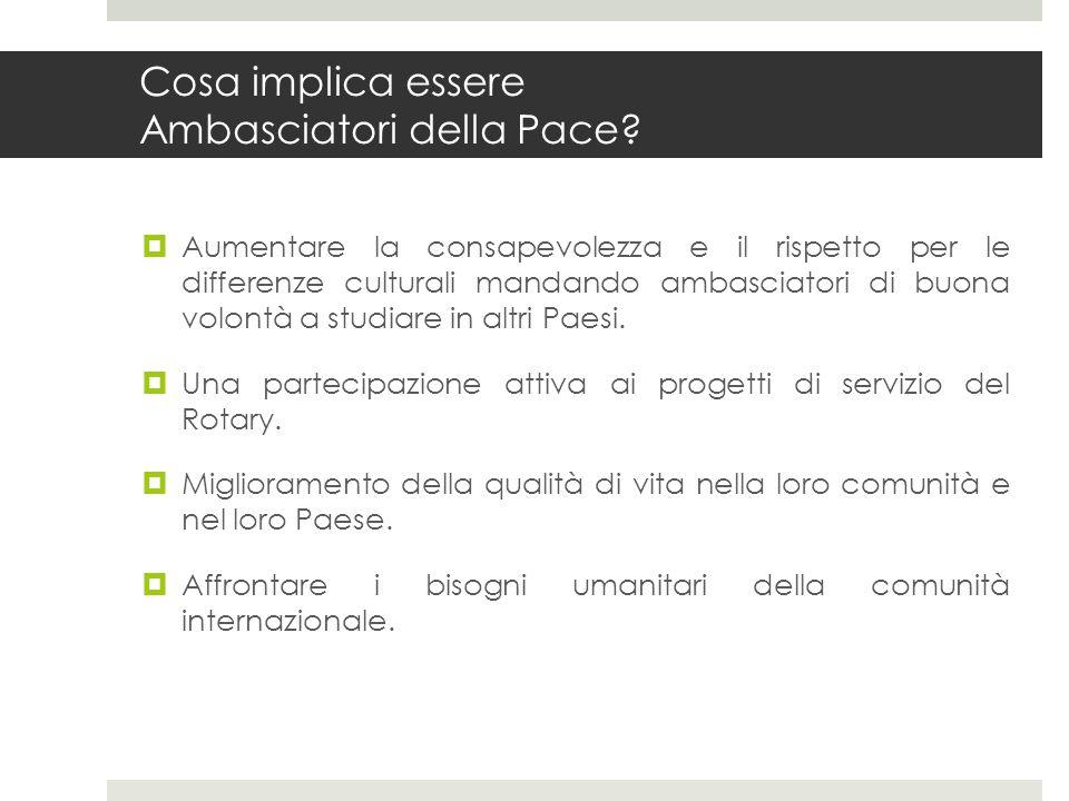 Cosa implica essere Ambasciatori della Pace
