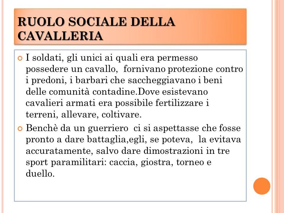 RUOLO SOCIALE DELLA CAVALLERIA