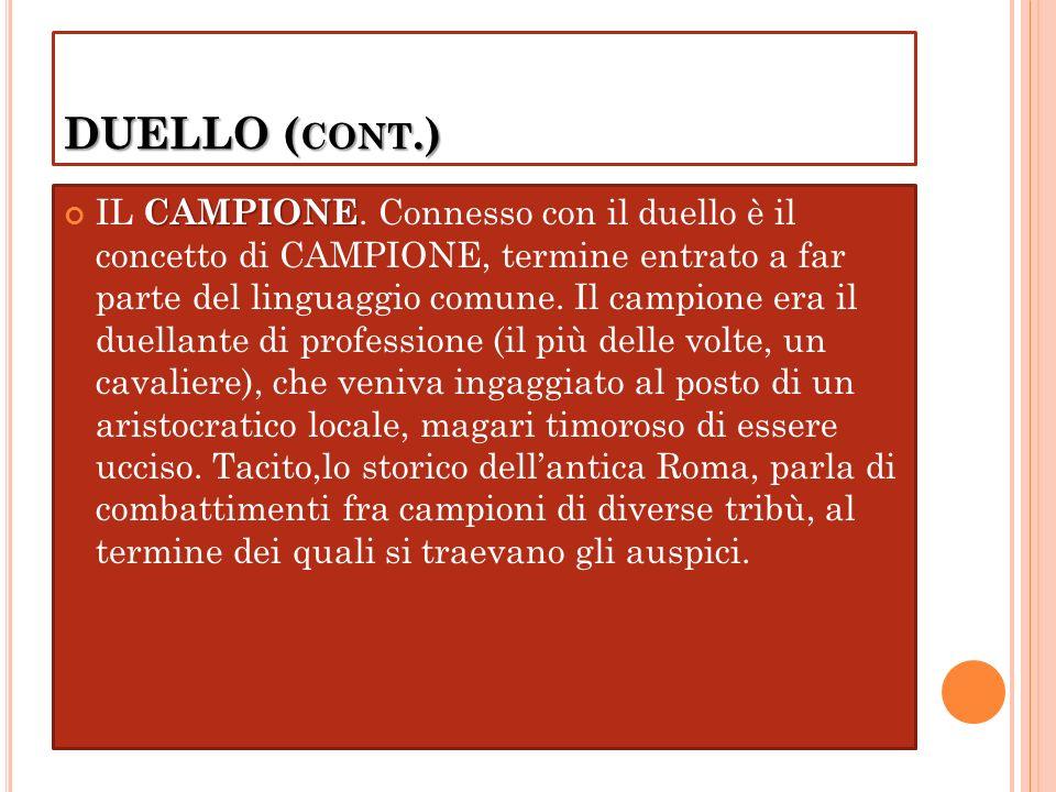DUELLO (cont.)