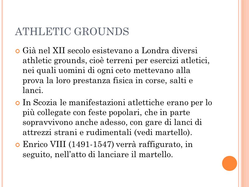 ATHLETIC GROUNDS