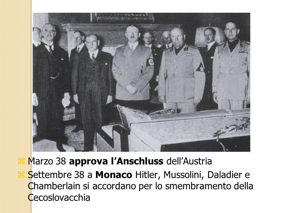 Marzo 38 approva l'Anschluss dell'Austria