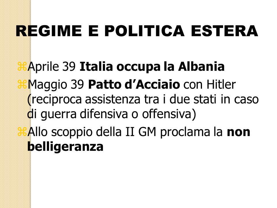 REGIME E POLITICA ESTERA
