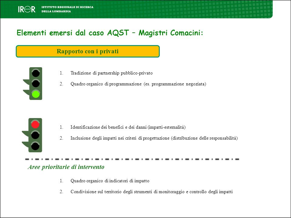 Elementi emersi dal caso AQST – Magistri Comacini: