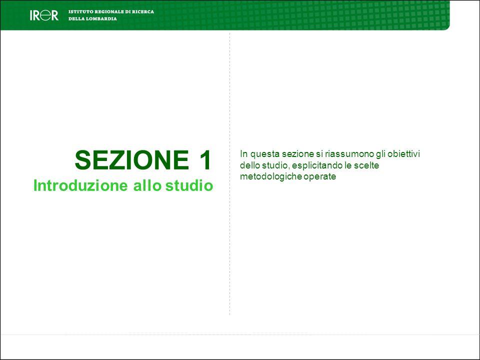 SEZIONE 1 Introduzione allo studio