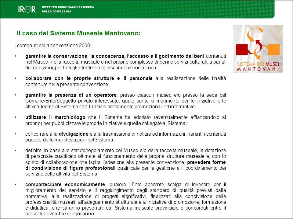 Il caso del Sistema Museale Mantovano: