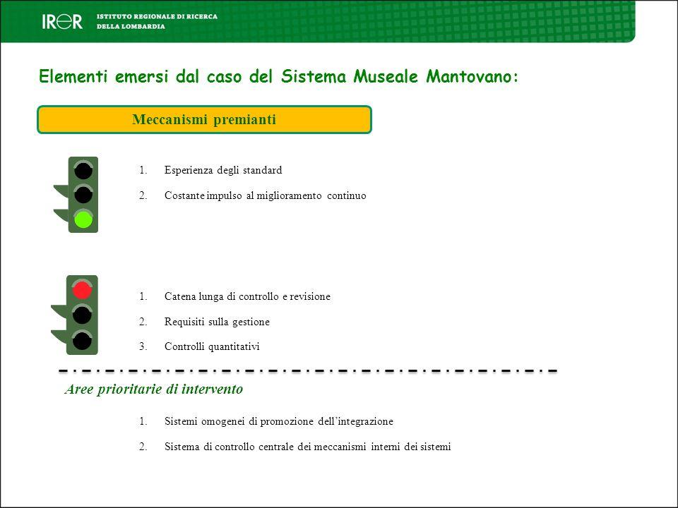 Elementi emersi dal caso del Sistema Museale Mantovano: