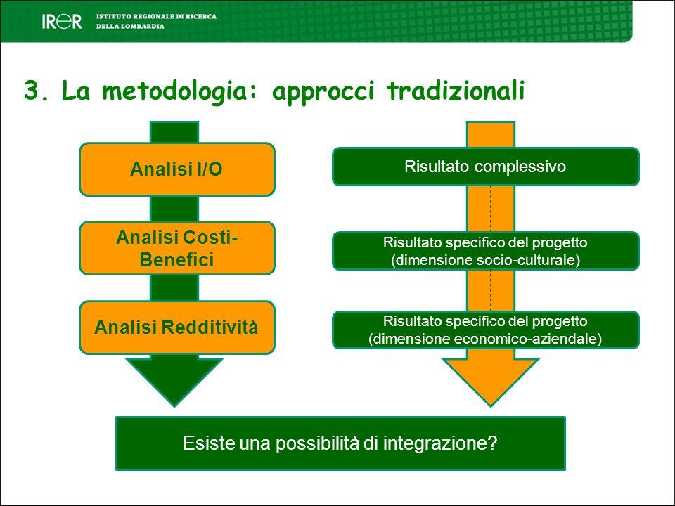 3. La metodologia: approcci tradizionali