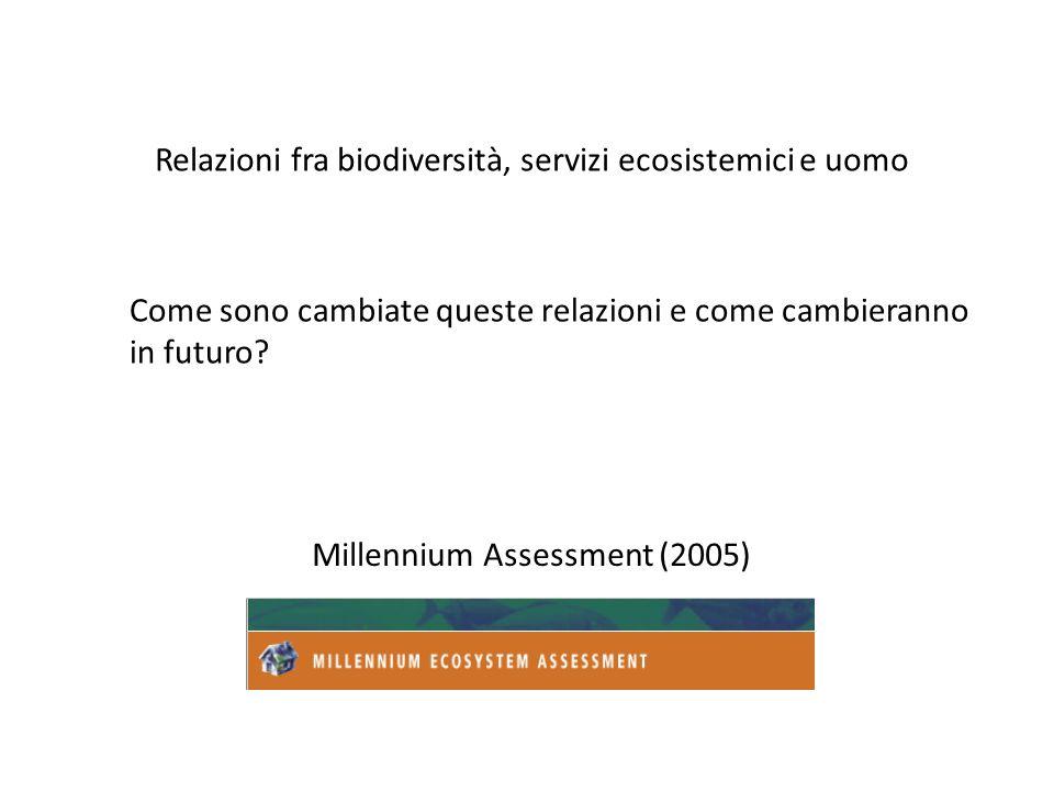 Relazioni fra biodiversità, servizi ecosistemici e uomo
