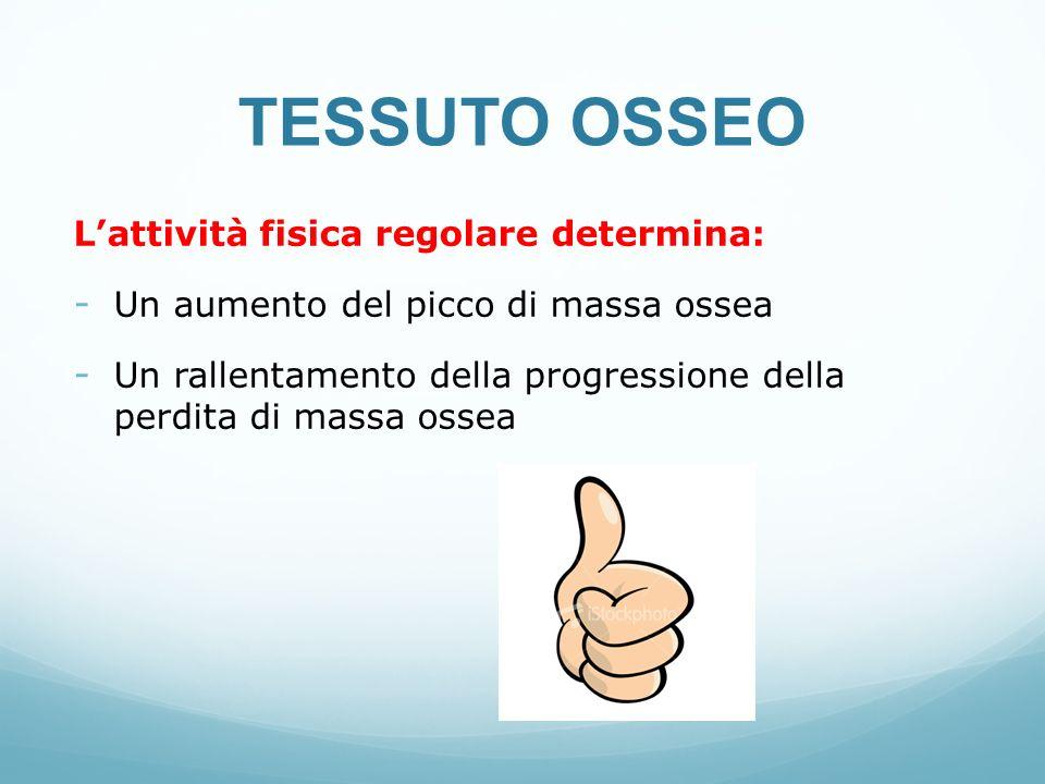 TESSUTO OSSEO L'attività fisica regolare determina: