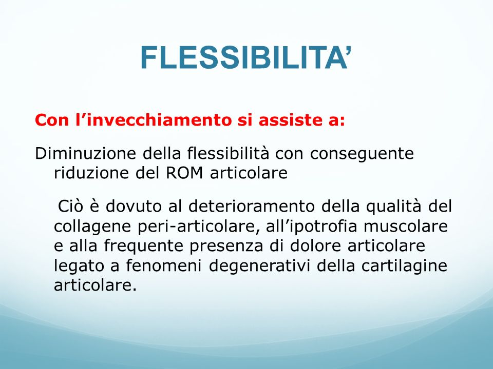 FLESSIBILITA'
