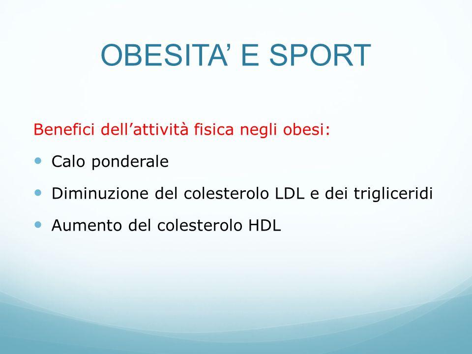 OBESITA' E SPORT Benefici dell'attività fisica negli obesi: