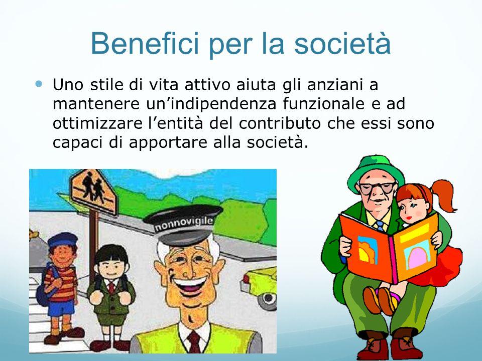 Benefici per la società
