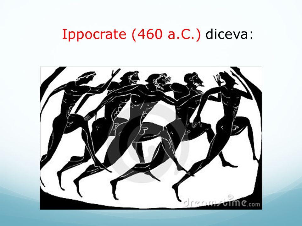 Ippocrate (460 a.C.) diceva: