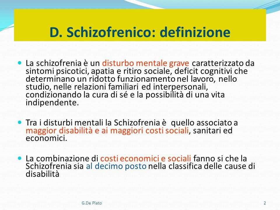 D. Schizofrenico: definizione