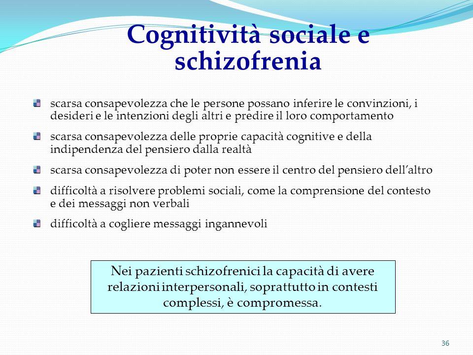 Cognitività sociale e schizofrenia