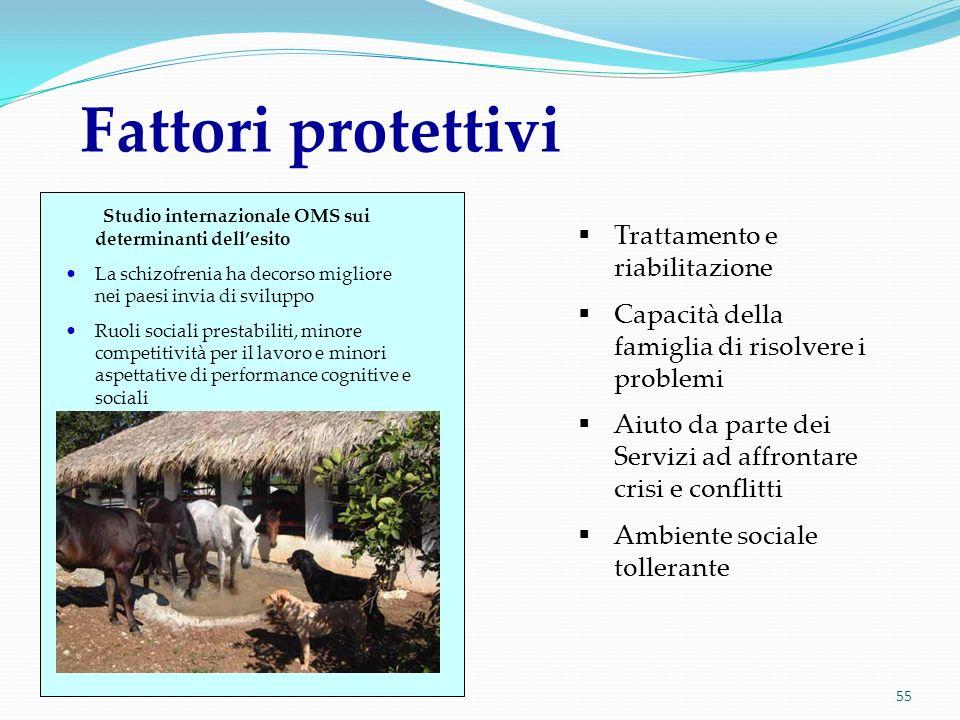 Fattori protettivi Trattamento e riabilitazione