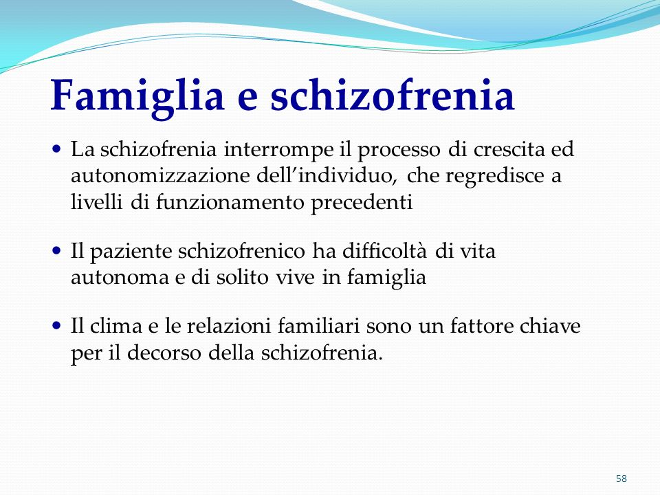 Famiglia e schizofrenia