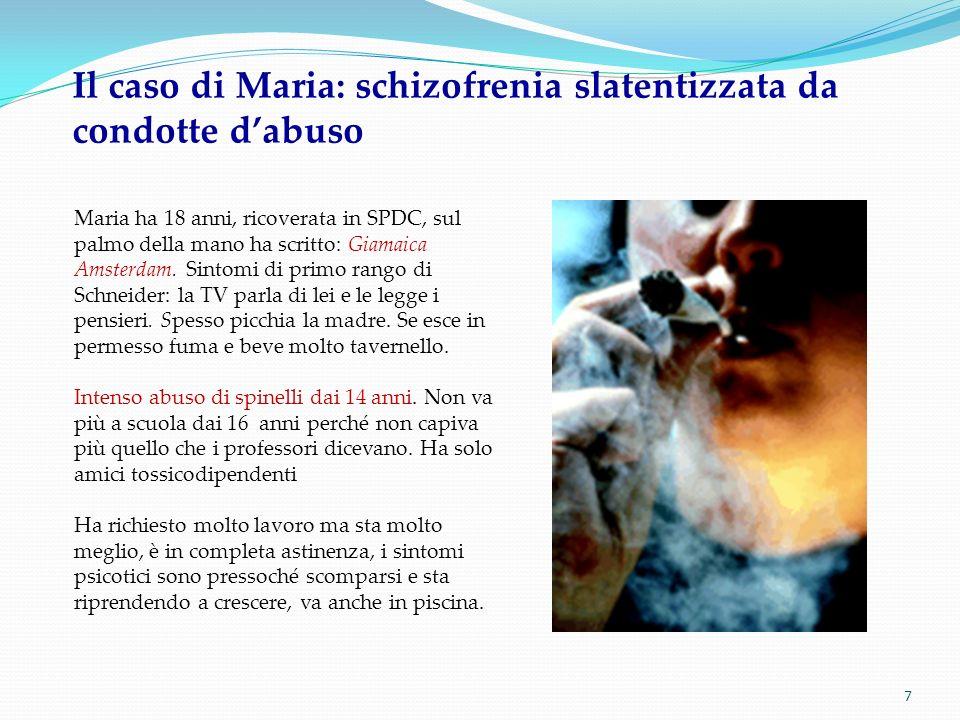 Il caso di Maria: schizofrenia slatentizzata da condotte d'abuso