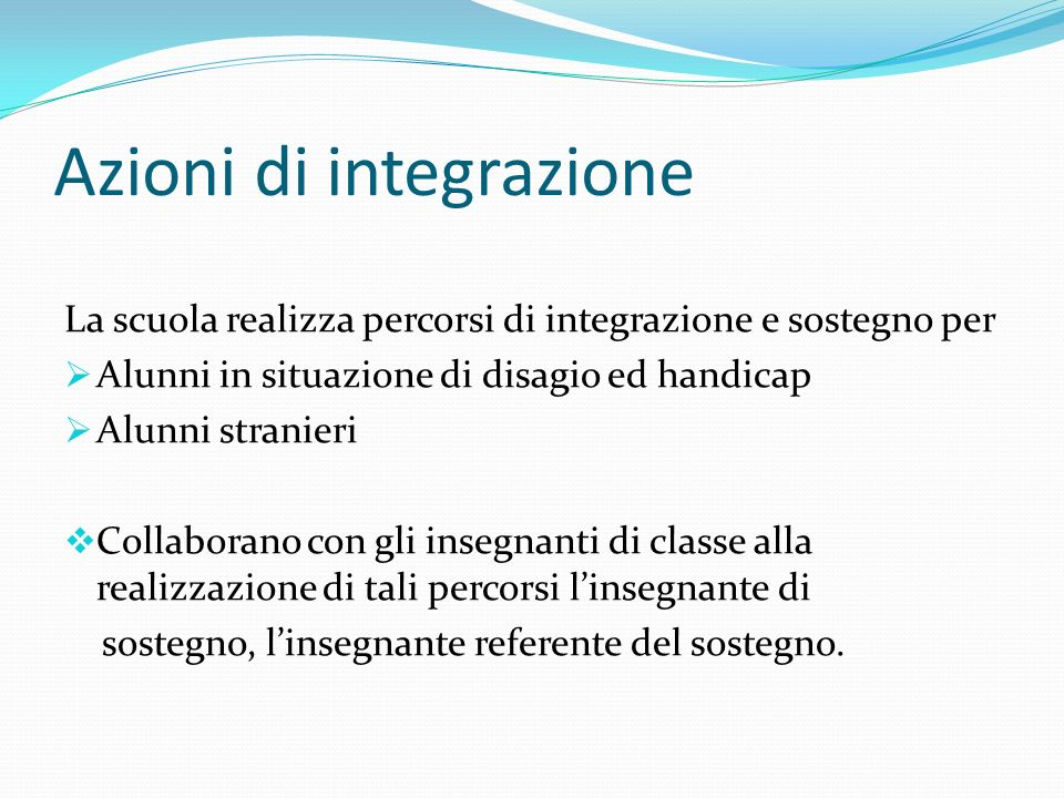 Azioni di integrazione