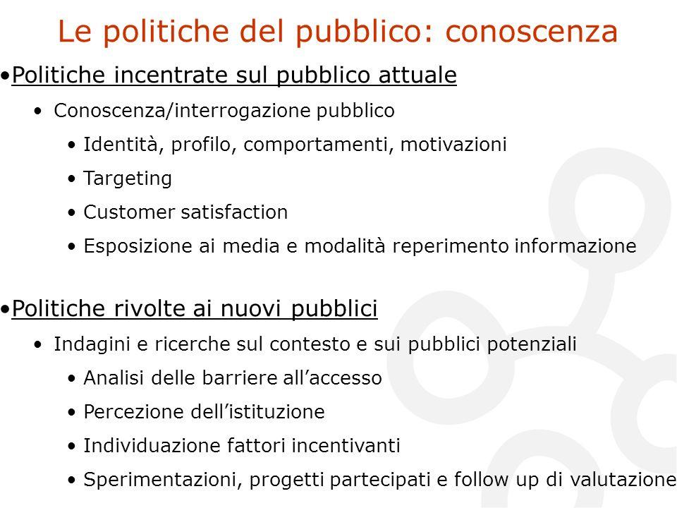 Le politiche del pubblico: conoscenza