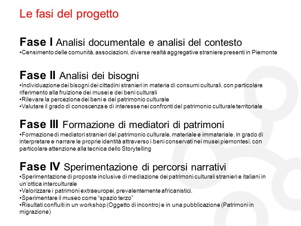 Fase I Analisi documentale e analisi del contesto