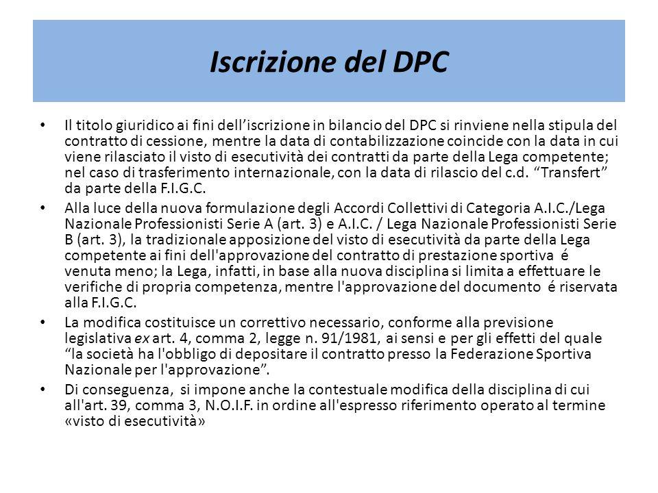 Iscrizione del DPC