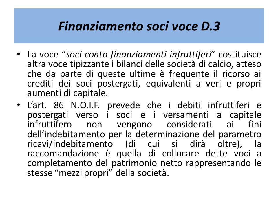 Finanziamento soci voce D.3