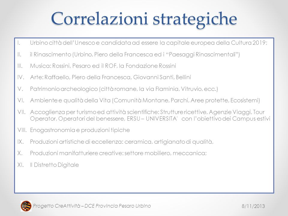Correlazioni strategiche