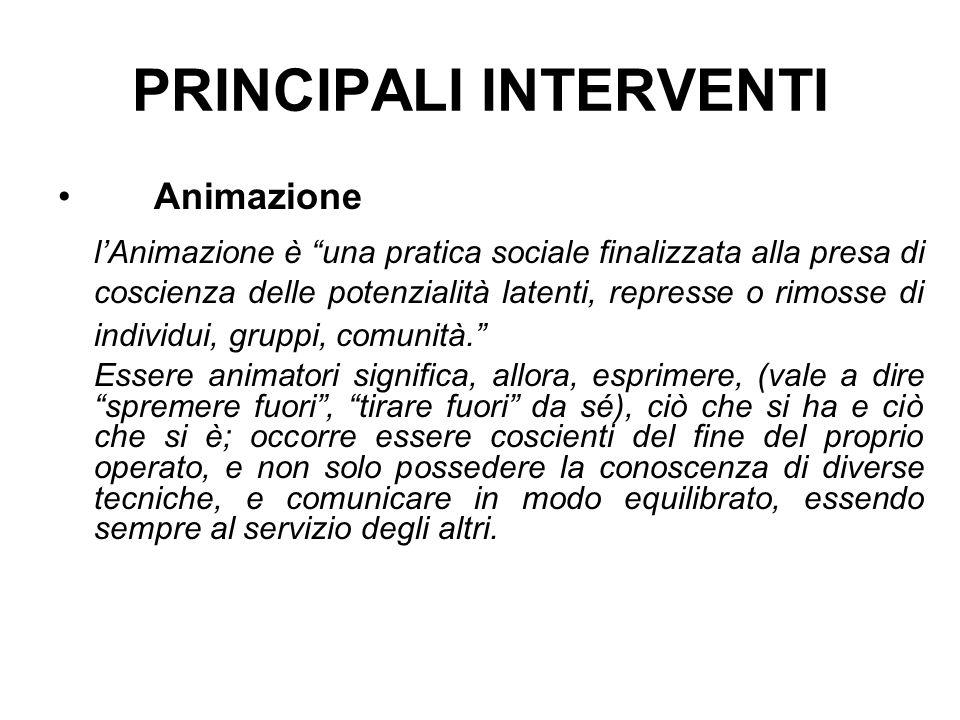 PRINCIPALI INTERVENTI