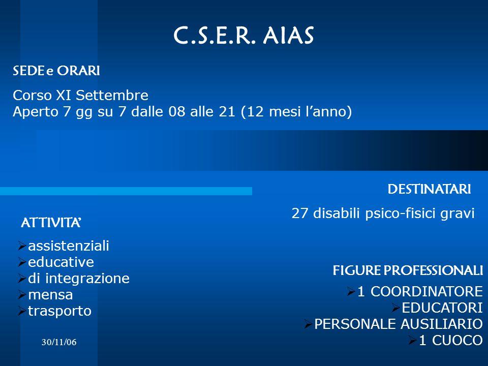 C.S.E.R. AIAS SEDE e ORARI Corso XI Settembre