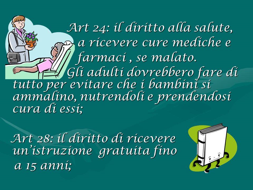 Art 24: il diritto alla salute,