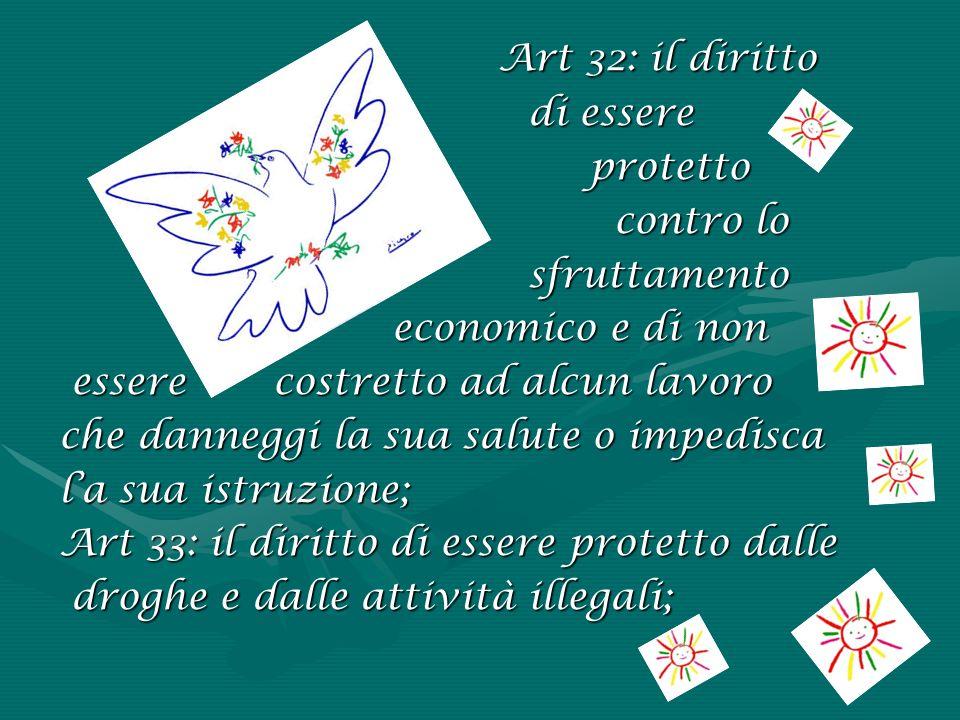 Art 32: il diritto di essere protetto contro lo sfruttamento