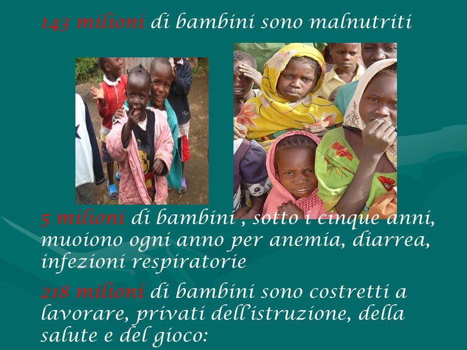 143 milioni di bambini sono malnutriti