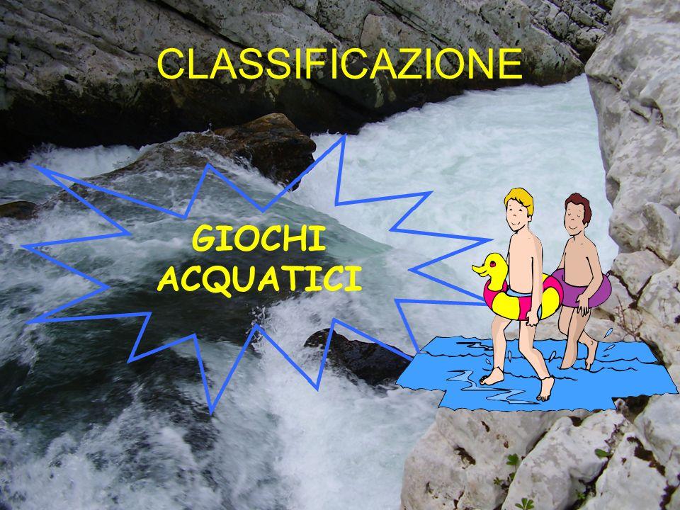 CLASSIFICAZIONE GIOCHI ACQUATICI