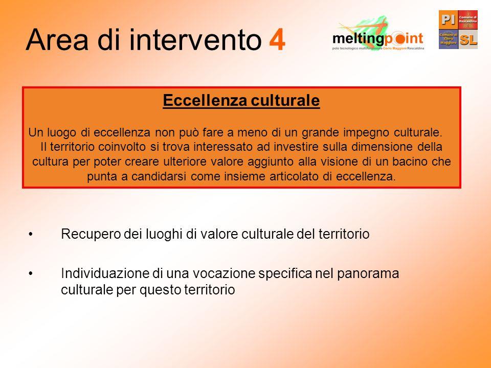 Area di intervento 4 Eccellenza culturale