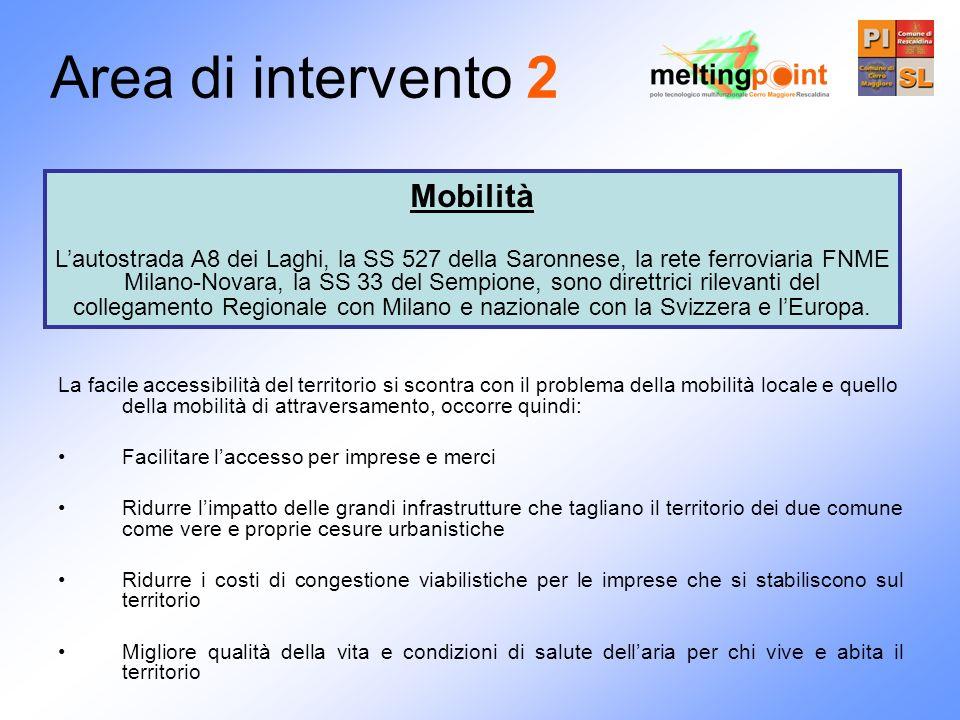 Area di intervento 2 Mobilità