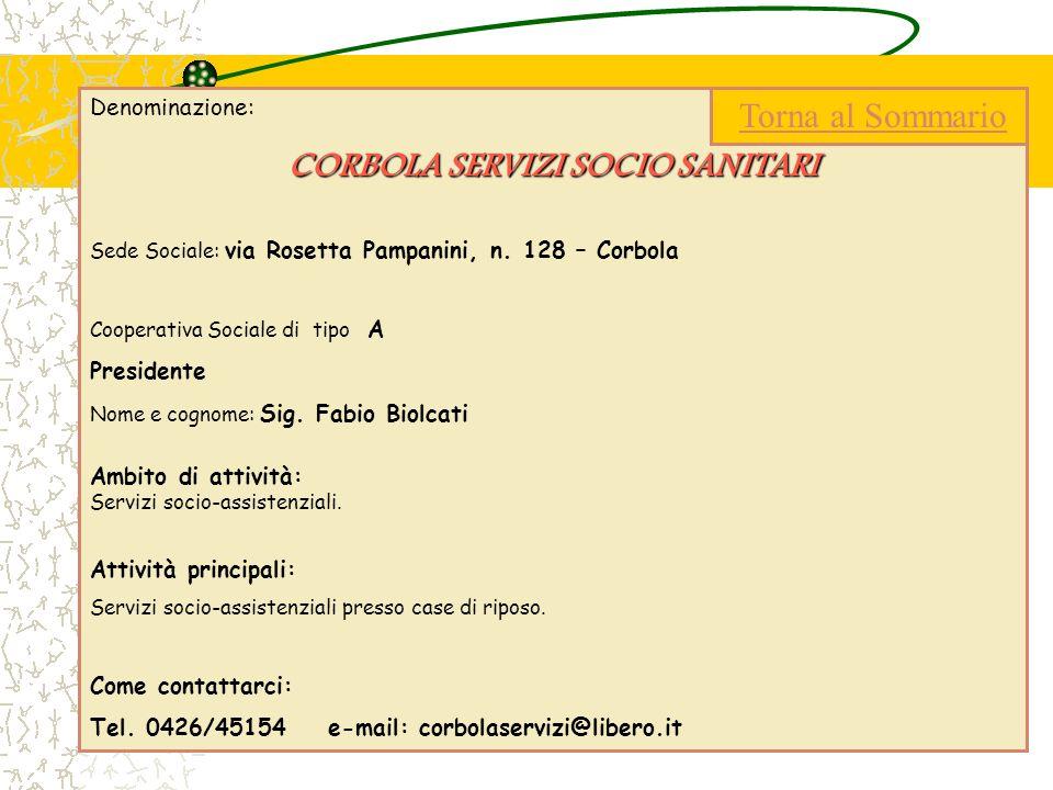CORBOLA SERVIZI SOCIO SANITARI
