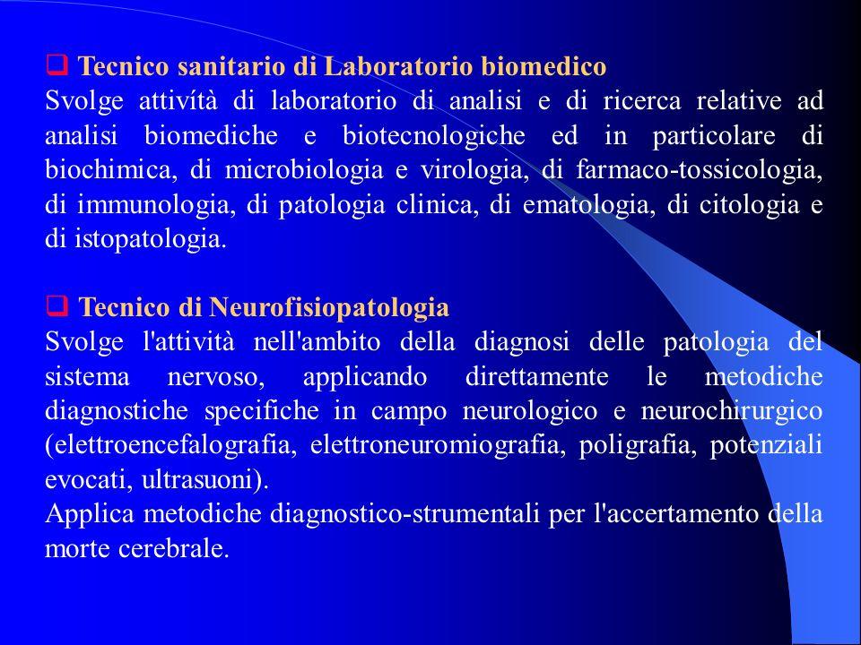 Tecnico sanitario di Laboratorio biomedico